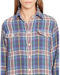 Polo Ralph Lauren | Blue Relaxed-fit Plaid Workshirt | Lyst
