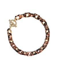 MICHAEL Michael Kors | Metallic Tortoise-look Link Necklace | Lyst