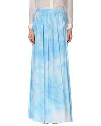 Guess | Blue Long Skirt | Lyst