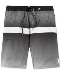 Hurley - Black Phantom Blocked Flight Board Shorts for Men - Lyst