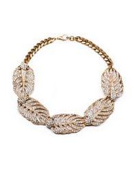 Lulu Frost | Metallic Goldtone Drift Statement Necklace | Lyst
