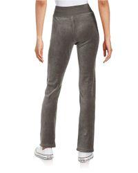 Calvin Klein Gray Velour Drawstring Pants