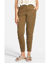 Volcom - Green 'stand Up' Cargo Pants - Lyst