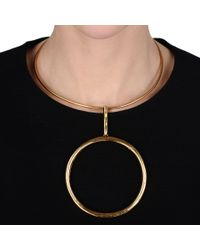 Stella McCartney - Metallic Ring Necklace - Lyst