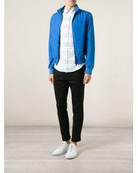 Burberry Brit | Blue Windbreaker Jacket for Men | Lyst