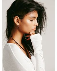 Free People | Metallic Katie Diamond Womens Violet Threader Earring | Lyst