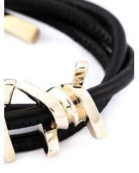 DSquared² | Black Barbed Wire Bracelet | Lyst