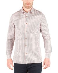 Racing Green Blue George Multi Check Shirt for men