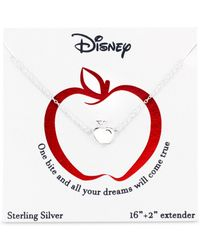 Disney - Snow White Apple Pendant Necklace In Sterling Silver - Lyst