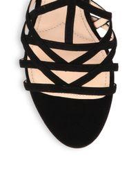 Miu Miu - Suede Sandals - Lyst