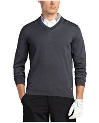 BOSS Green - Gray Sweater: 'veeh' In New Wool for Men - Lyst