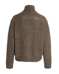 Libertine-Libertine - Natural Sand Roll Neck Knitted Jumper for Men - Lyst