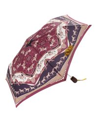 Joules - Red Horse Print Umbrella - Lyst