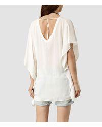 AllSaints - White Vita Top - Lyst