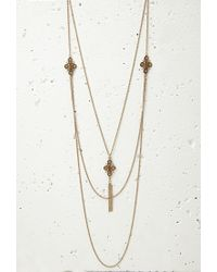Forever 21 - Brown Layered Pendant Necklace Set - Lyst