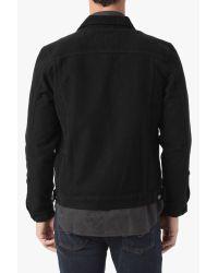 7 For All Mankind Black Patch Pocket Trucker Jacket for men