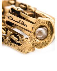 Oscar de la Renta | Metallic Waterfall Clip-on Earrings | Lyst