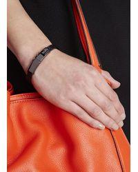 COACH | Metallic Gunmetal Crystal Embellished Bracelet | Lyst