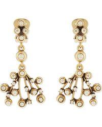 Oscar de la Renta | Metallic Crystal Earrings - For Women | Lyst