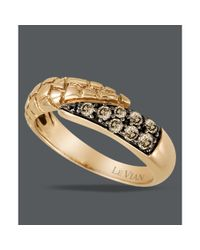 Le Vian | Metallic Chocolate Diamond Bypass Ring 13 Ct Tw in 14k Rose Gold | Lyst
