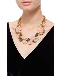 Bounkit | Multicolor Rose Quartz And Labradorite String Necklace | Lyst