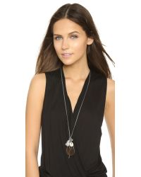 Chan Luu - Gray Braided Charm Necklace - Grey Mix - Lyst