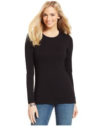Style & Co. | Black Style&Co. Basic Long-Sleeve Tee | Lyst