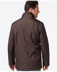 Cole Haan | Black Full-zip Jacket With Removable Faux-fur Vest for Men | Lyst