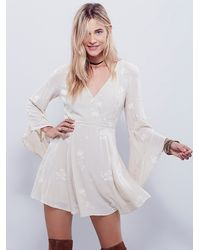 Free People | Natural Jasmine Embroidered Dress | Lyst