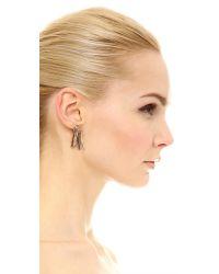 Eddie Borgo Pink Fringe Earrings - Rose Gold