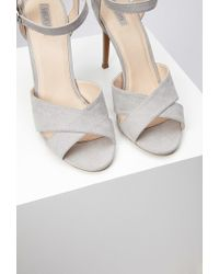 Forever 21 | Gray Ankle Strap Sandals | Lyst