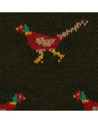 River Island Green Pheasant Christmas Sweater for men