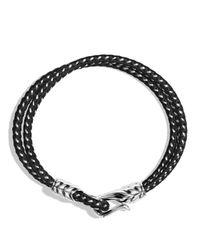 David Yurman | Metallic Chevron Two-row Bracelet In Black for Men | Lyst