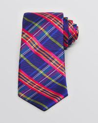 Ted Baker - Blue Bright Plaid Classic Tie for Men - Lyst