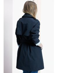 Violeta by Mango Black Classic Cotton Trench Coat