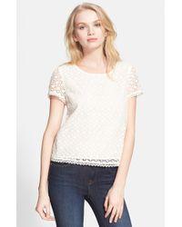 Joie - White 'alsace' Crochet Top - Lyst