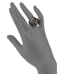 Ippolita - Black Smoky Quartz & Diamond Cluster Ring - Lyst