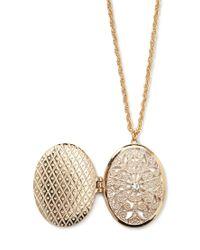Forever 21 Metallic Filigree Locket Necklace