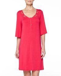 La Perla - Pink Primula Lace-trim Sleepshirt - Lyst