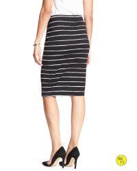 Banana Republic - Black Factory Stripe Pencil Skirt - Lyst