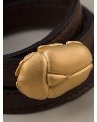 Valentino - Metallic Scarab Detail Bracelet - Lyst