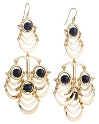 Lele Sadoughi | Metallic Orbit Chandelier Earring, Black Hole | Lyst