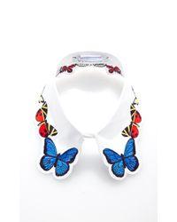 Vivetta - White Embroidered Fauna Collar - Lyst