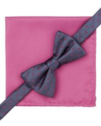 Alfani | Pink Spectrum Hilliard Geo Bow Tie And Pocket Square Set, Only At Macy's for Men | Lyst