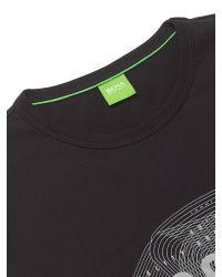 BOSS Blue Boss Green Tee 1 Logo Print T-shirt for men