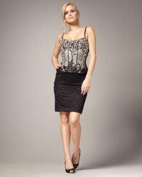 Mandalay   Black Beaded Bustier Lace Dress   Lyst