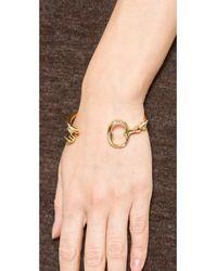 Aurelie Bidermann Metallic Rivoli Bracelet - Gold