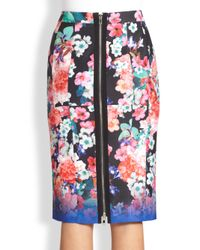 Nanette Lepore | Blue Wipe-out Skirt | Lyst