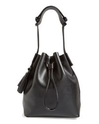 Vince Camuto | Black 'lorin' Drawstring Tote | Lyst