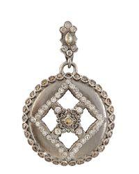 Armenta | Metallic Open Round Cross Enhancer With Sapphire & Diamonds | Lyst